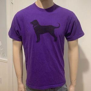 The black dog Martha's Vineyard purple t shirt MED